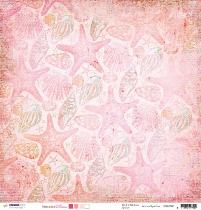 Studio Light Scrappapier 10vel 30,5x30,5 Romantic Summer 01 SCRAPRS01