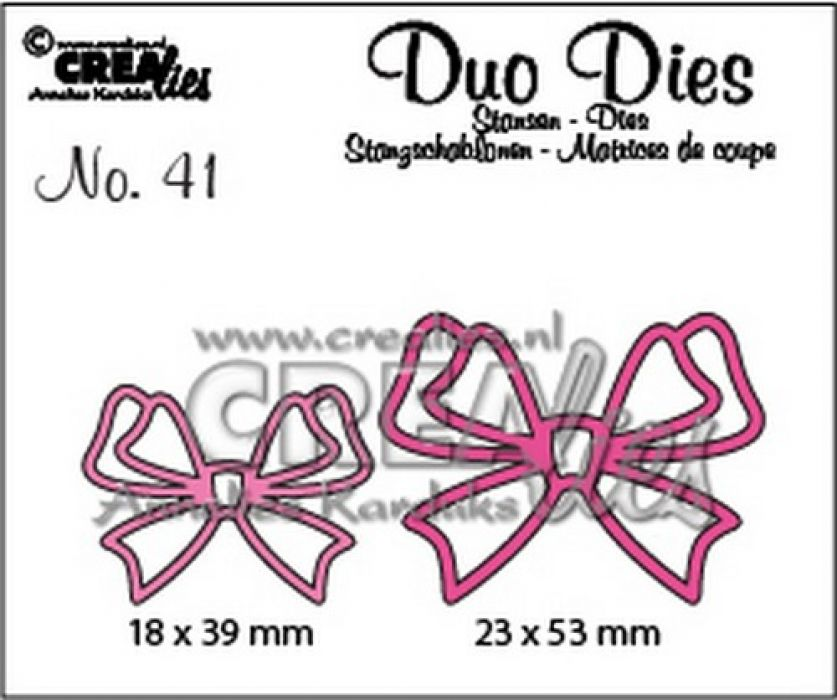 Crealies Duo Dies no. 41 Strikjes 24x31mm-31x41mm / CLDD41