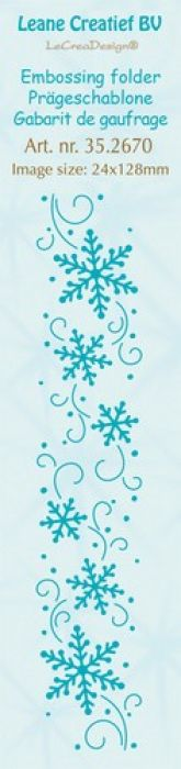 LeCrea - Border embossing folder Snowflakes 24x128mm