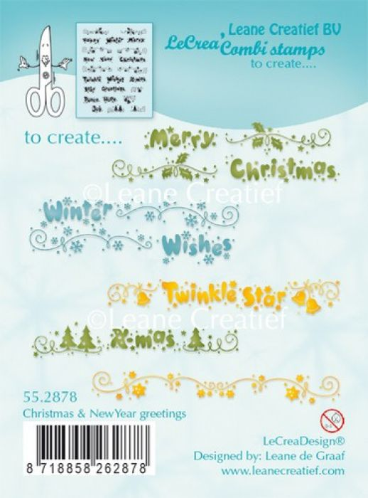 LeCrea - Combi clear stamp Christmas & New Year greetings 55.2878