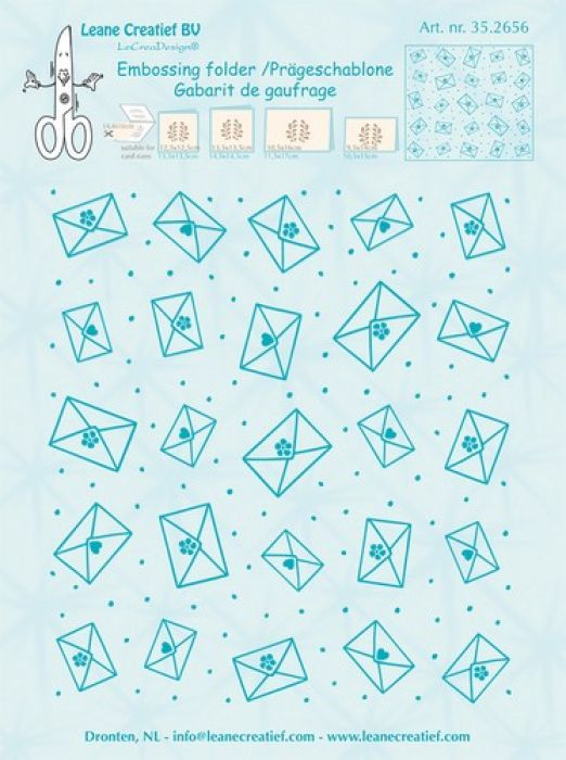 LeCrea - Embossing folder Background Envelopes  14.4x16cm