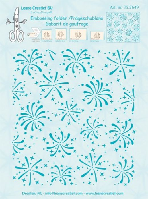 LeCrea - Embossing folder Background Firework  14.4x16cm