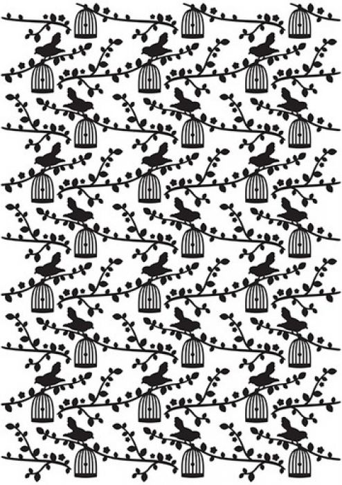 Nellie`s Choice Embossing Folder Vintasia Bird pattern VINF006 106x150mm