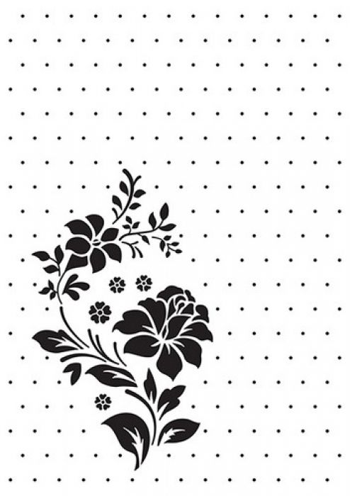 Nellie`s Choice Embossing Folder Vintasia Rose ornament VINF008 106x150mm