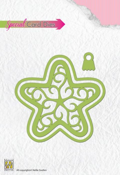 Nellies Choice Special Card Die - Christmas shake ball star CBD003 9,0x8,8cm
