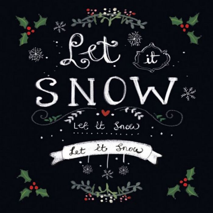 servetten 5st - Let it snow 33x33cm Ambiente
