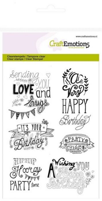 clearstamps A6 - birthday handlettering (Eng)