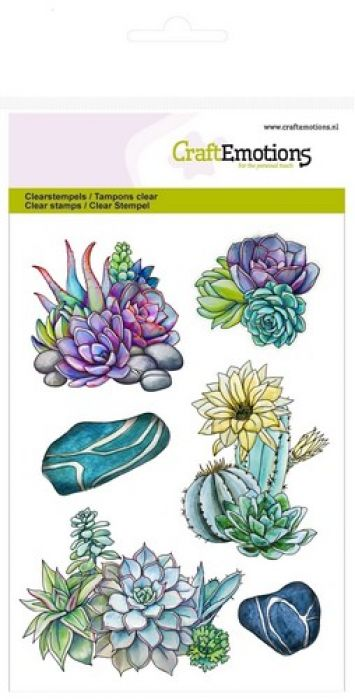 CraftEmotions clearstamps A6 - cactus vetplant Botanical Nature