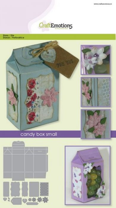CraftEmotions Die - candy box small Card A5 box 46x85x32 mm