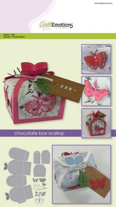 CraftEmotions Die - chocolate box butterfly Card A5 box 55x43x40 mm
