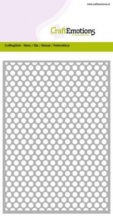 CraftEmotions Die - Cutting Grid - dots rond Card 10,5x14,8cm
