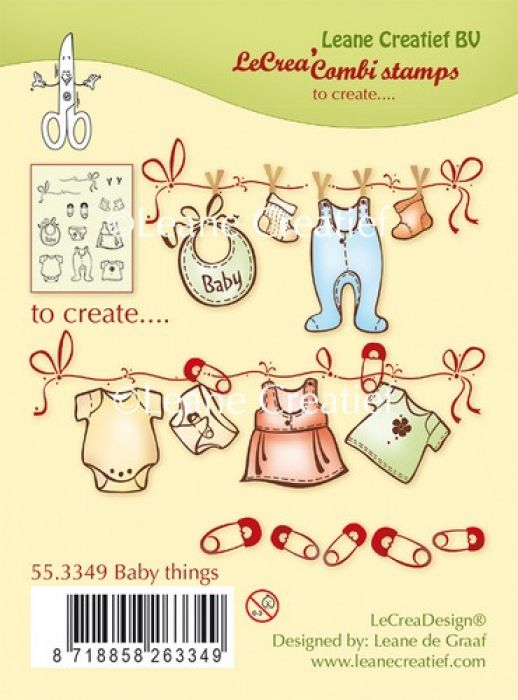 LeCrea - Combi clear stamp Baby things 55.3349