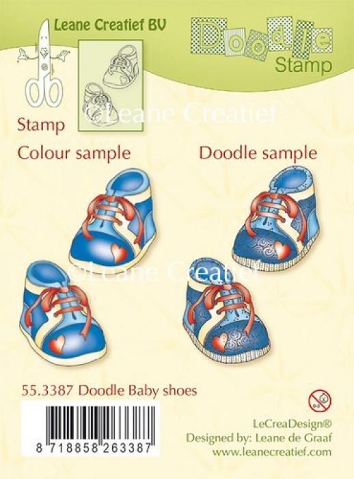 LeCrea - Doodle clear stamp Baby shoes 55.3387