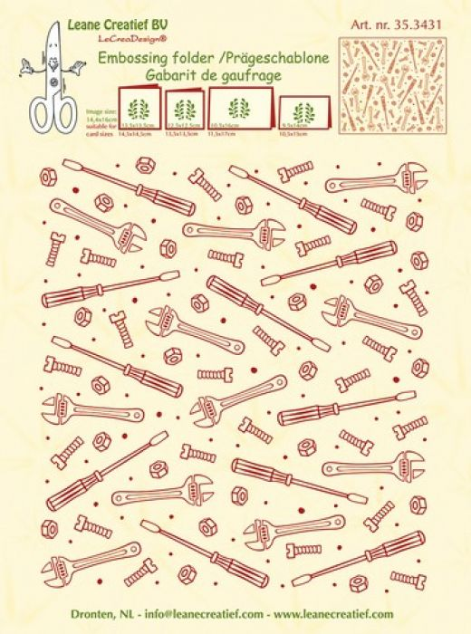 LeCrea - Embossing folder background Tools 14.4x16cm 35.3431