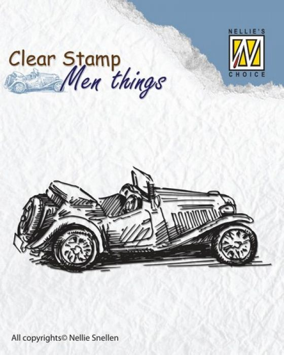 Nellie`s Choice Clearstamp - Men things Oldtimer CSMT005 75x30mm