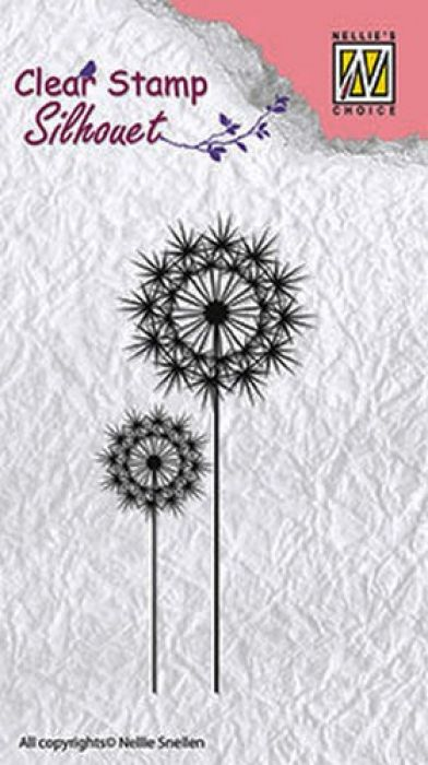 Nellie`s Choice Clearstamp - Silhouette flower 8 SIL014 85x37mm