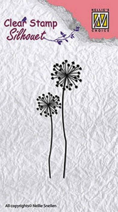 Nellie`s Choice Clearstamp - Silhouette flower 9 SIL015 85x29mm