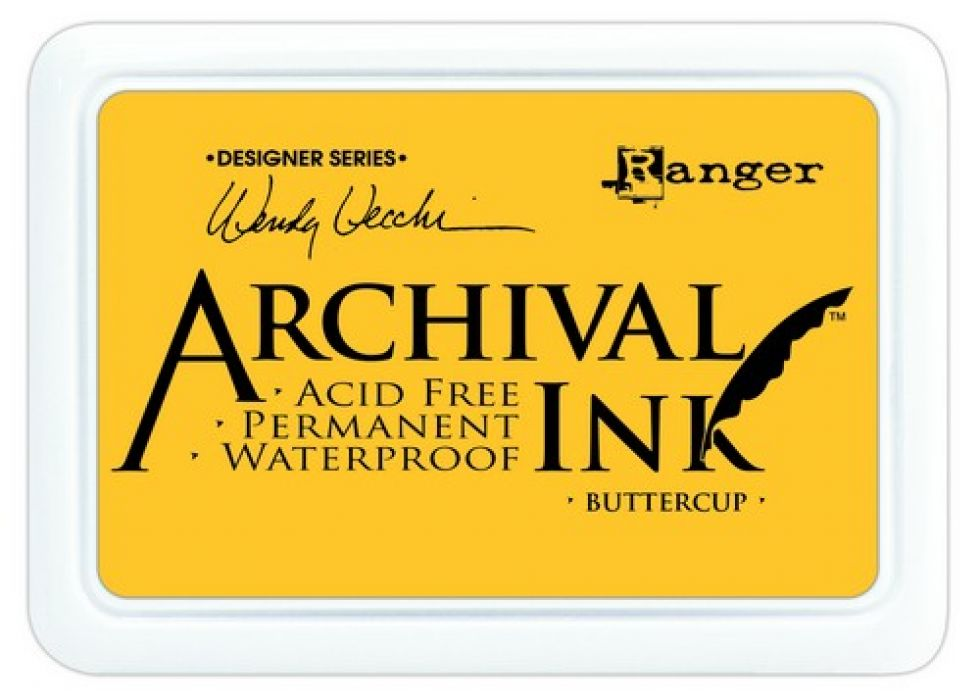 Ranger Archival Ink pad - buttercup AID45632 Wendy Vecchi