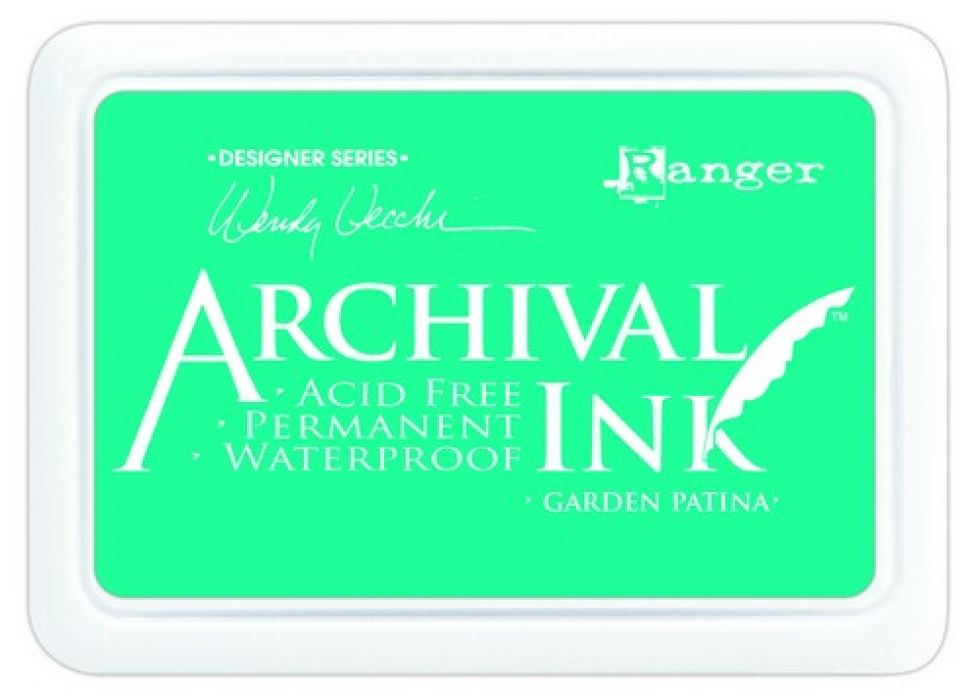 Ranger Archival Ink pad - garden patina AID48992 Wendy Vecchi