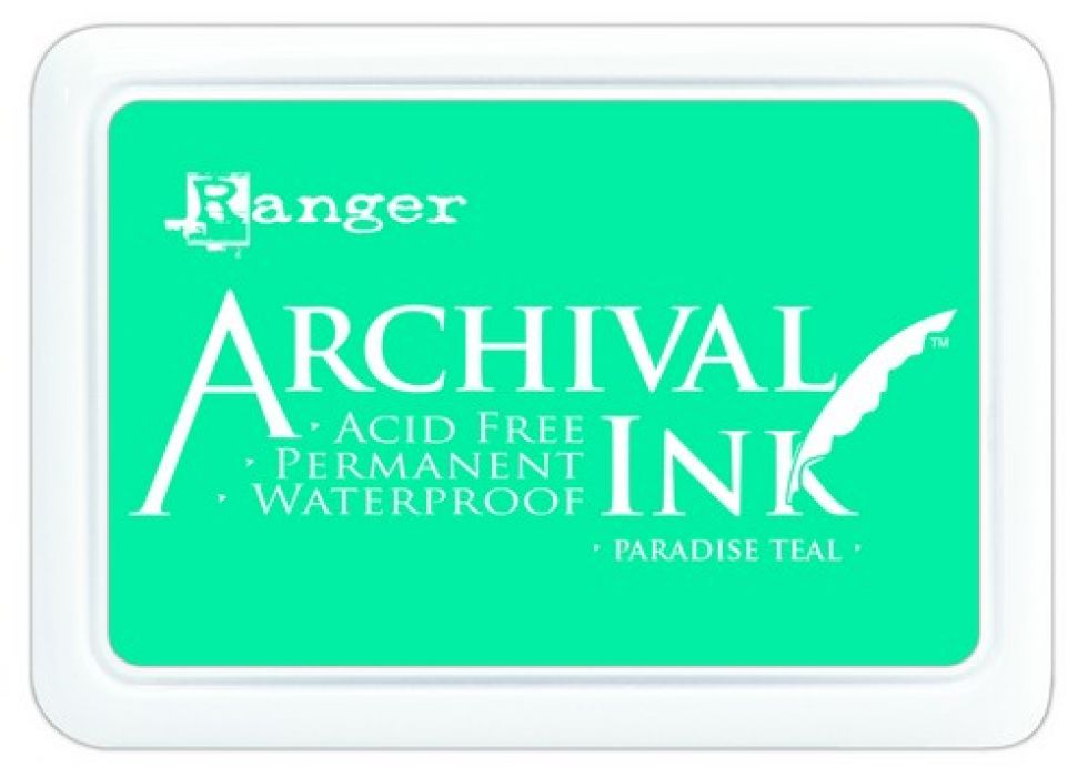 Ranger Archival Ink pad - paradise teal AIP52500