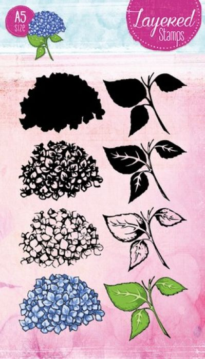 Studio Light Layered Clearstempel Hortensia A5 nr 21 STAMPLS21