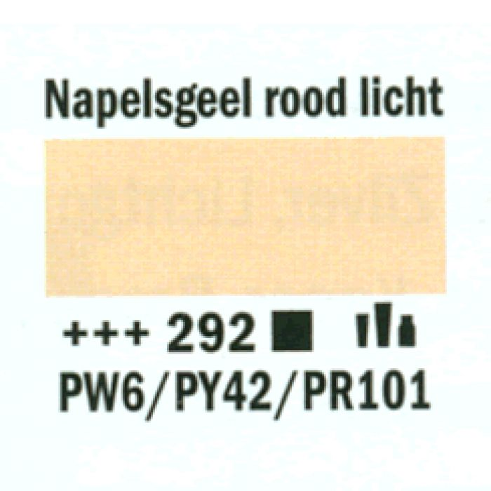 Amsterdam Acrylverf tube 120 ml napels geel rood licht 292