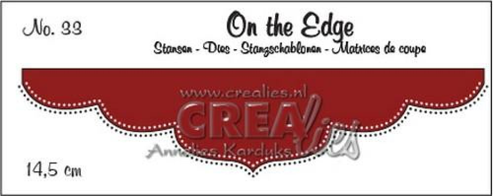 Crealies On the edge die stans no 33 CLOTE33 / 14,5 cm
