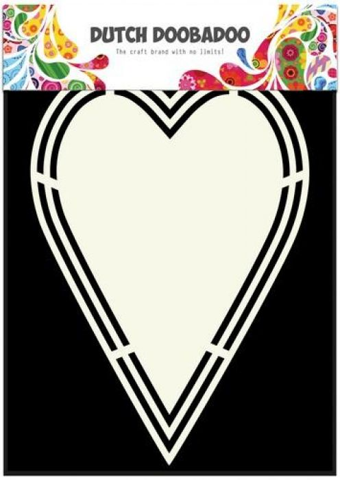 Dutch Doobadoo Dutch Shape Art label hart A5 470.713.153