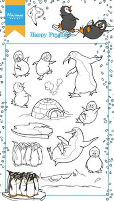 Marianne D Stempel Hetty`s Happy Pinguins HT1628