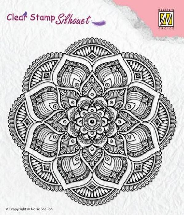 Nellie`s Choice Clear stamps Silhouette mandala 25 SIL025 110x110mm
