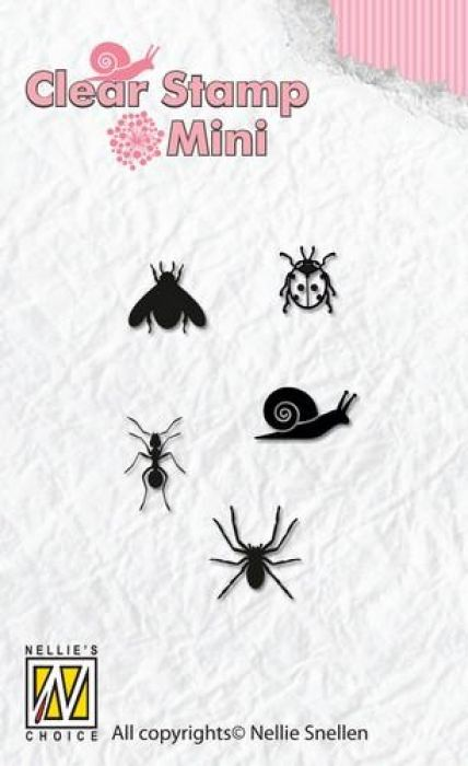 Nellie`s Choice Mini clear stamps insecten MAFS004 27x41mm