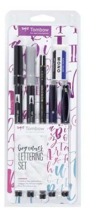 Tombow lettering Set `Beginner` 19-LS-BEG - 6 items