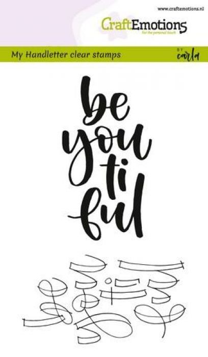 clearstamps A6 - handletter - be you ti ful