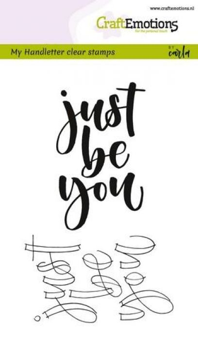 clearstamps A6 - handletter - just be you