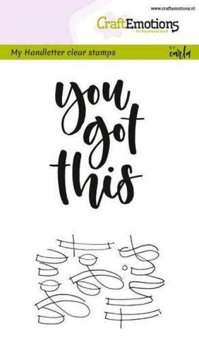 clearstamps A6 - handletter - you got this
