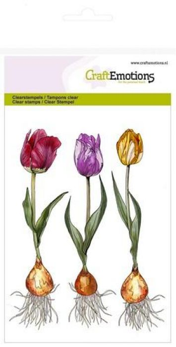 clearstamps A6 - tulp