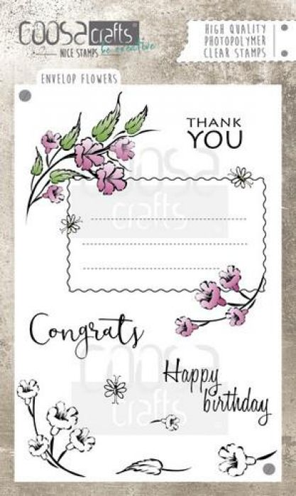 COOSA Crafts clearstamps A6 -Envelope Flowers A6 (