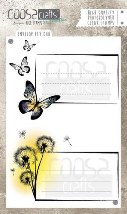 COOSA Crafts clearstamps A6 -Envelope Fly duo A6 (Eng) COC-034