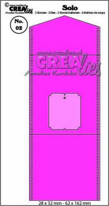 Crealies Solo Theezakjes verpakking + label CLSolo02 / 28x32 mm - 62x162 mm