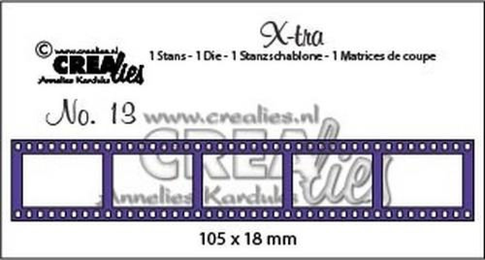 Crealies X-tra no. 13 filmstrip klein 105 x 18 mm / CLXtra13
