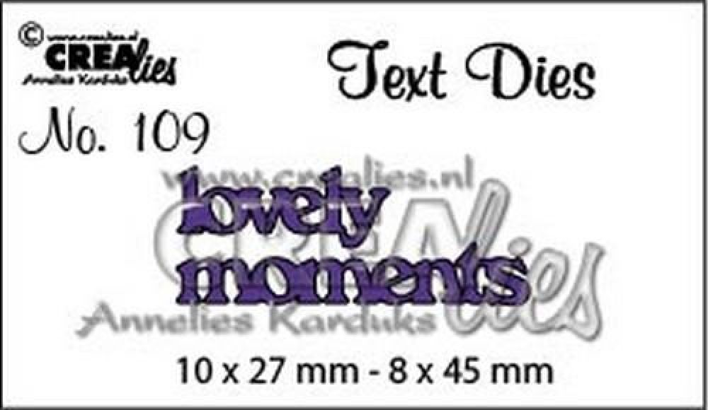Crealiestekststans (Eng) nr. 109 lovely moments CLTD109 10x27 - 8x45mm