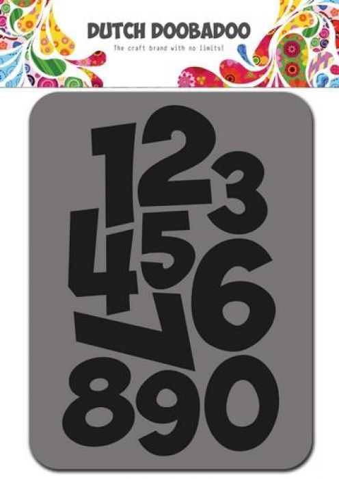 Dutch Doobadoo Foam stamps cijfers 494.902.002 75x96mm