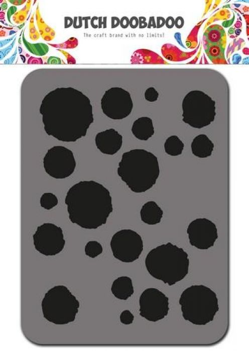 Dutch Doobadoo Foam stamps dots 494.902.003 75x96mm
