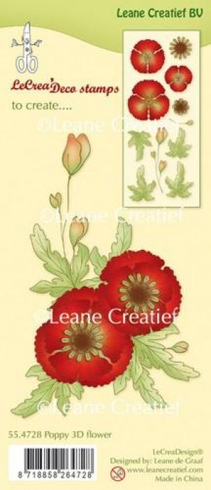 LeCrea - Clear stamp Klaproos 3D Flower 55.4728