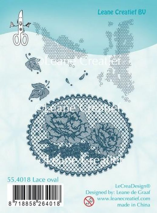 LeCrea - Clear stamp Lace oval Roses 55.4018