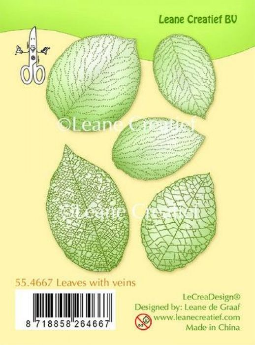 LeCrea - Clear stamp Leaves with veins 55.4667