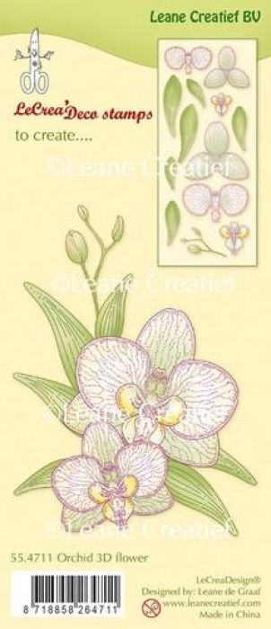 LeCrea - Clear stamp Orchidee 3D Flower 55.4711