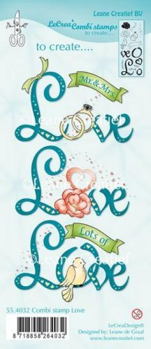 LeCrea - Combi clear stamp Love 55.4032