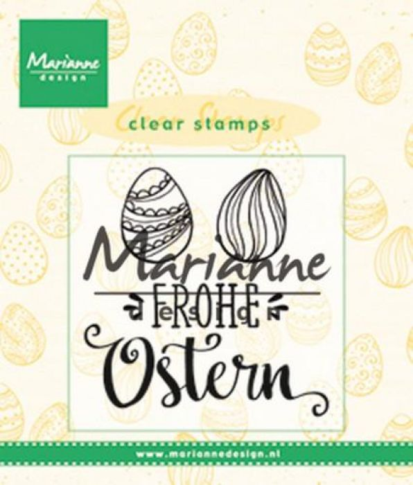 Marianne D Clear Stamp Frohe Ostern (DE) CS1002