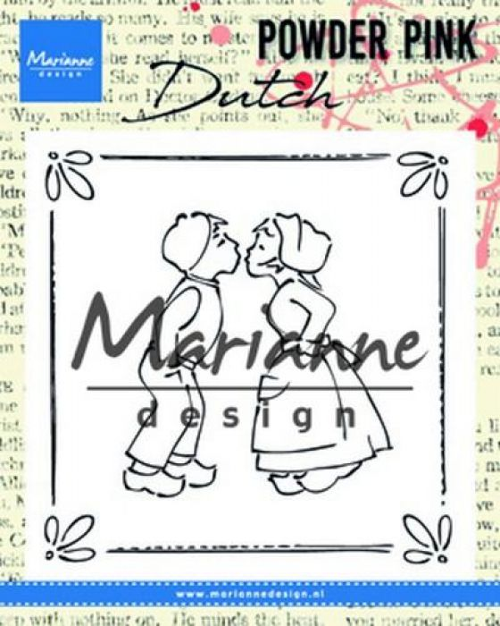 Marianne D Clear stamp P. Pink - Kussend koppel PP2803 81x82 mm